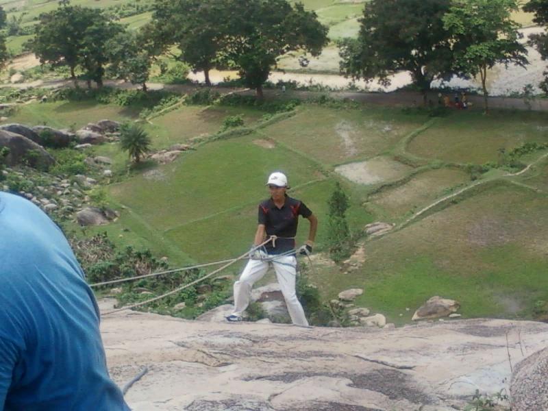 Adventure Section-Rappeling at Pancha Lingeshwar